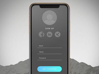 Sign Up Screen UI 001 dailyui 001 dailyui