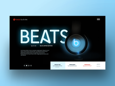 Beats Webdesign UI ui beats beats by dre landing page webdesign web