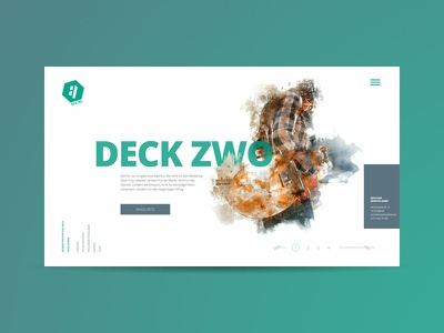DECK ZWO Website Design onepager uidesign webdesign web website