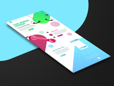 Daily UI 003 Landing Page landing page phone 003 webdesign web ui dailyui