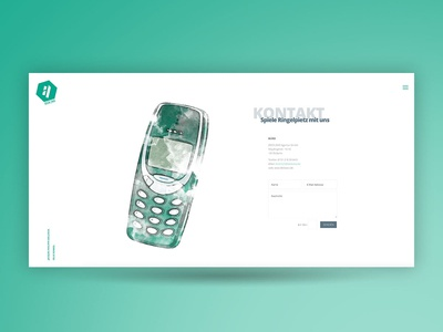 Web Contact Page contact us contact form watercolor illustration watercolor ui contact webdesign