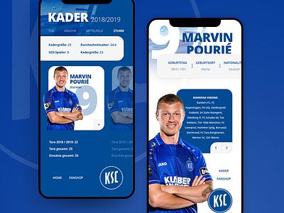 Football Players Profile profile mobile design user interface ui mobile soccer football
