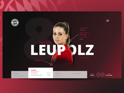 Players Profile Webdesign