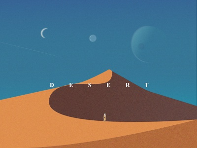 Desert morocco typography design gredient painting illustartor illustration