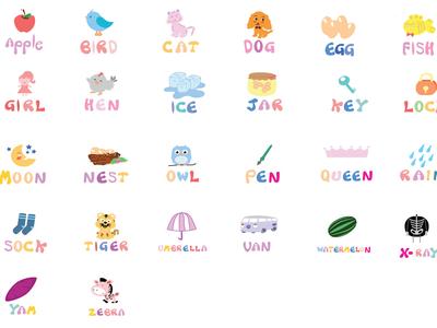 Design A - Z alphabet