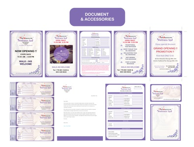 Poster / Document / letter head and etc for spa