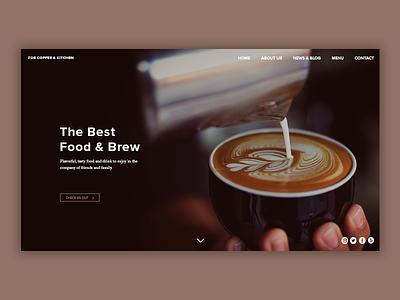 Cafe/Diner Landing Page landing page coffee cafe restaurant design restaurant design web photoshop ux ui