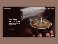 Cafe/Diner Landing Page