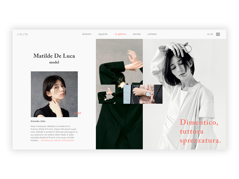 Fashion Gallery [01] website web  design model fashion blog fashion photoshop design ux ui