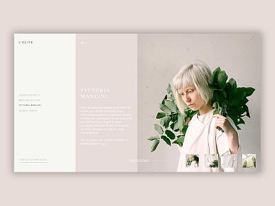 Fashion Gallery [04] - Interactive animation after affects web  design fashion blog fashion photoshop web ux ui design