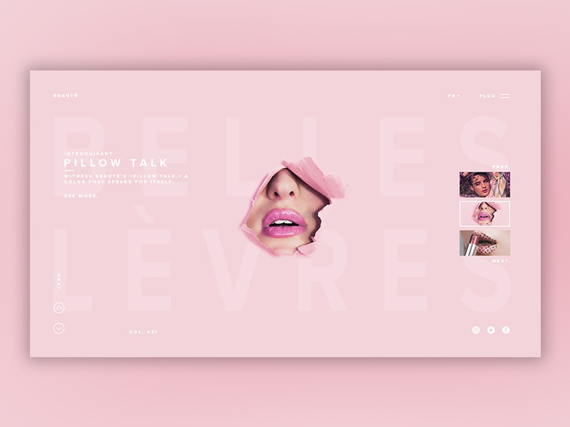 Dribbble pink