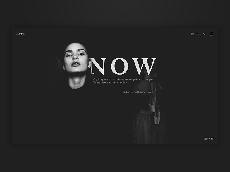 Fashion Landing [14] web  design fashion blog fashion photoshop web ui ux design