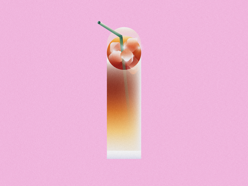 I is for Iced Coffee • 36 Days of Type latte beverage starbucks straw drink lettering 36daysoftype 36daysoftype08 36 days of type ice iced coffee coffee design gradient food 2d flat vector minimal illustration