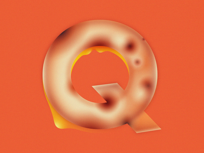 Q is for Quesadilla • 36 Days of Type q melting grain cheese tortilla quesadilla letter q alphabet lettering 36daysoftype08 36 days of type 36daysoftype design gradient food 2d flat vector minimal illustration