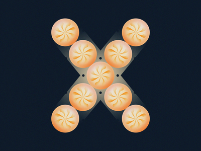 X is for Xiaolongbao • 36 Days of Type soup dumpling dim sum chinese xiaolongbao alphabet letter x typography asian dumpling 36daysoftype08 36 days of type 36daysoftype design gradient food 2d flat vector minimal illustration