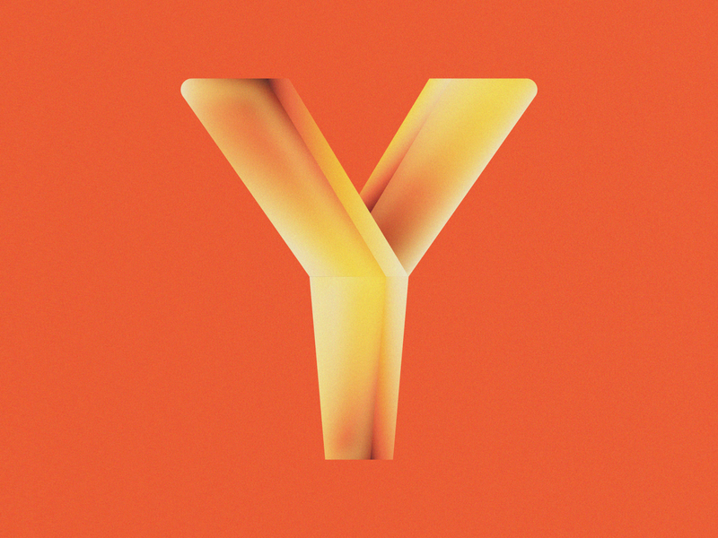 Y is for Yuca Fries • 36 Days of Type alphabet typography yucca south american puerto rican food fries cassava yuca fries yuca 36daysoftype08 36 days of type 36daysoftype design gradient food 2d flat vector minimal illustration