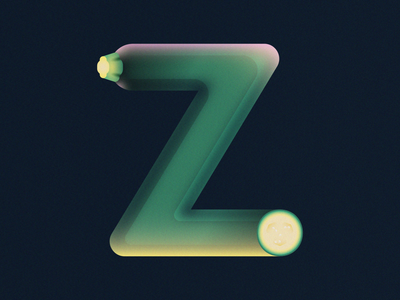 Z is for Zucchini • 36 Days of Type grain vegetable squash typography alphabet typography zucchini letter z letter alphabet 36daysoftype08 36 days of type 36daysoftype design gradient food 2d flat vector minimal illustration