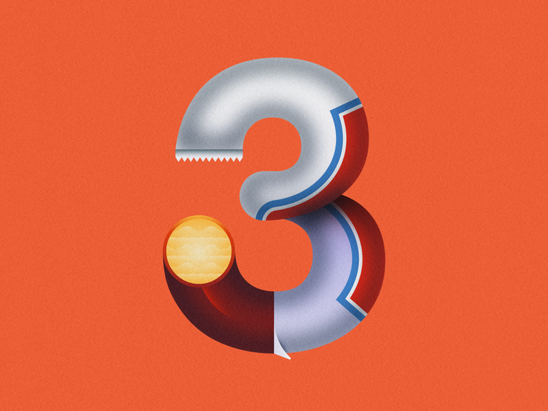 3 Musketeers • 36 Days of Type candy chocolate bar chocolate 3 musketeers 3 number 3 lettering typography alphabet 36daysoftype08 36 days of type 36daysoftype design gradient food 2d flat vector minimal illustration