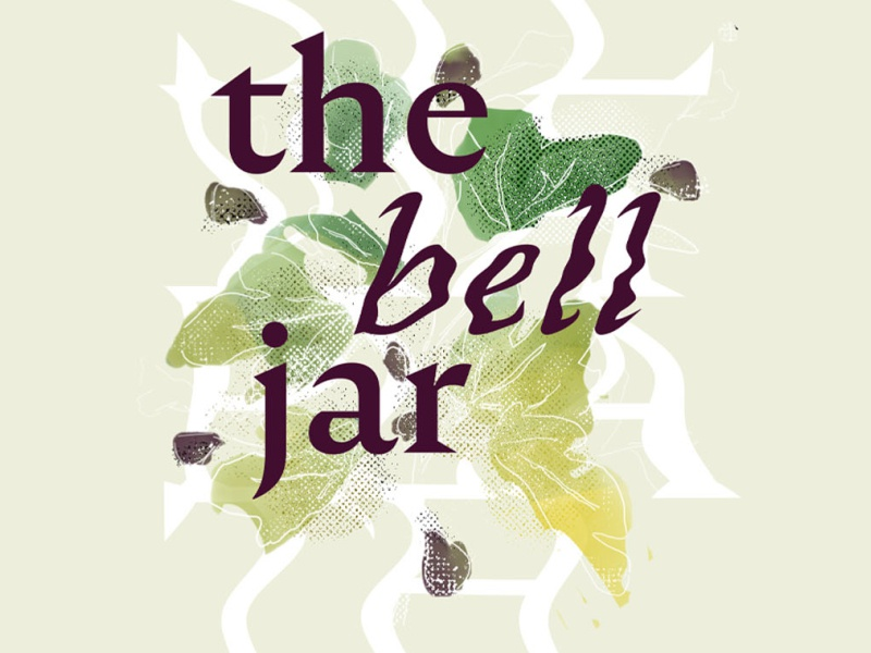the bell jar book cover redesign book illustration