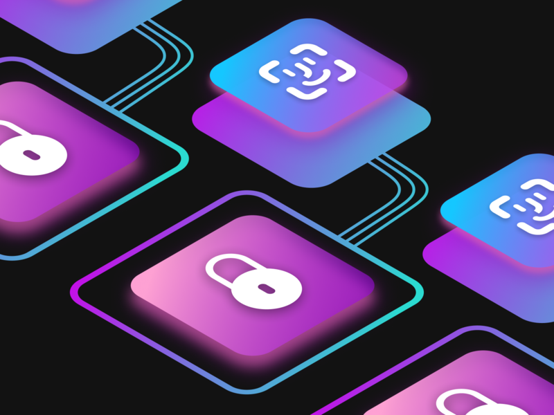 Apple Keys ux app ui gradient