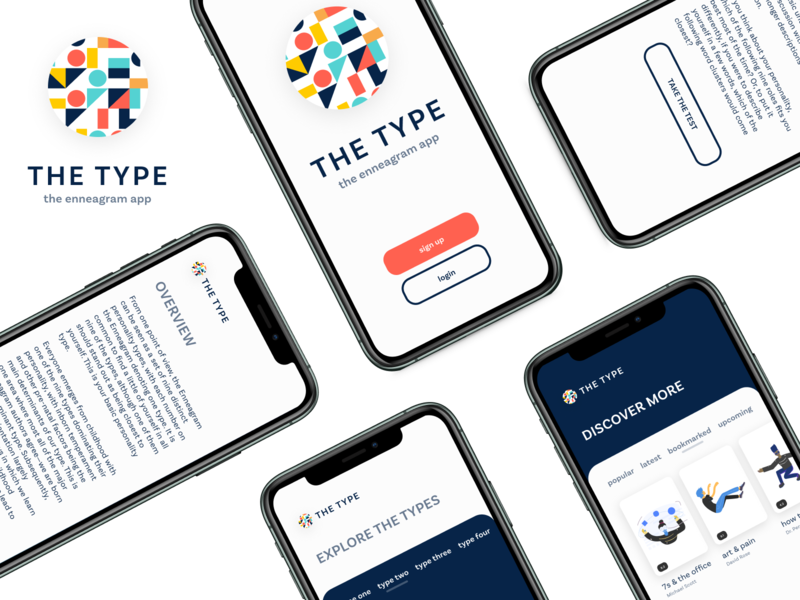 Type - The Enneagram App enneagram ios product design ui app
