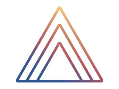 Personal Logo day sunrise triangle gradient mountains kp kris personal brand logo