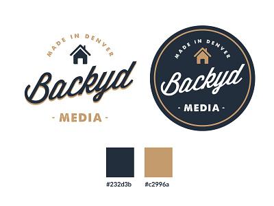 Backyd Media denver branding backyard house badge brand logo media