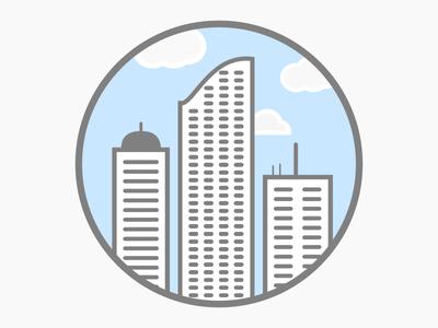 City building mark logo wip skyline city