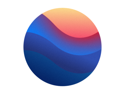 Make Waves this Weekend ocean blue gradient sun sunset waves circle