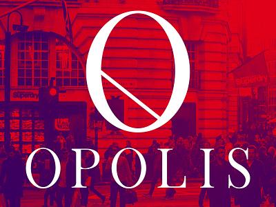 OPOLIS opolis mark branding logo urban city o gradient duotone identity brand