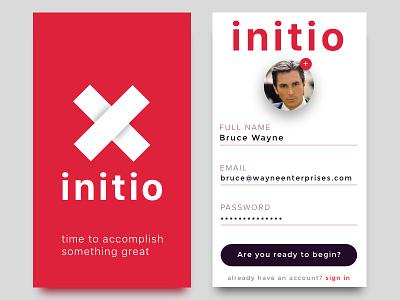 Initio - App Intro product ux accomplish great todo beginning ui app