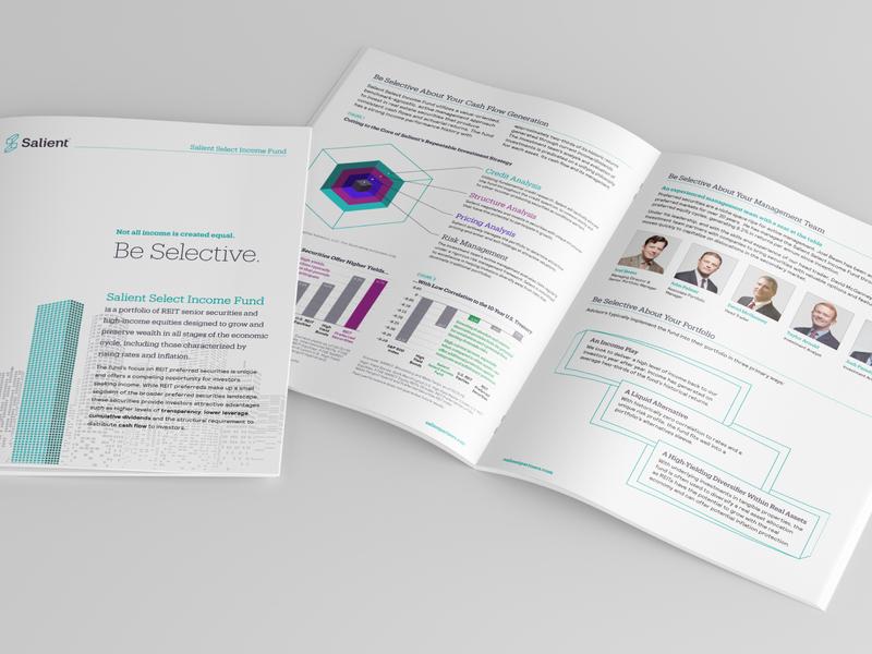 Salient Select Income Fund Brochure design