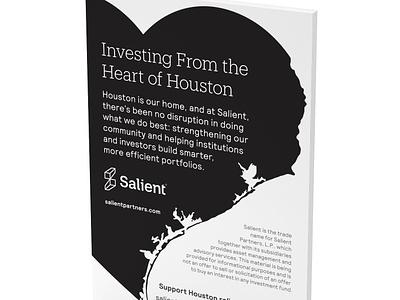 Hurricane Harvey Print Ad houston texas financial services print ad design