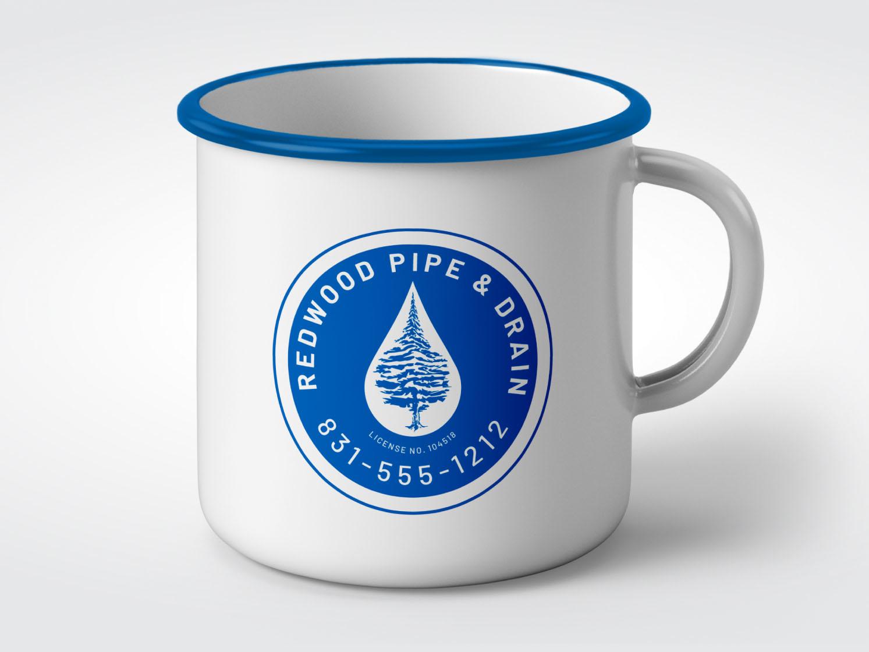 Redwood Pipe & Drain Logo branding design illustrator logo