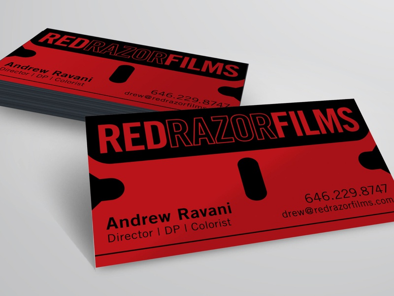 Red Razor Films Card busines card illustrator logo design