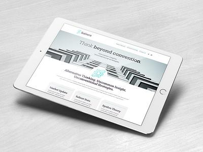 Salient Website design financial services responsive mobile web design