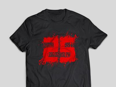 Vampires MC 25th Anniversary T-Shirt negative space logo negative space type screen printing tshirt