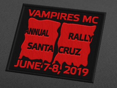 Vampires MC 25th Anniversary Patch