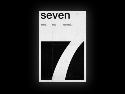 Se7en - Film Poster swiss style swiss typography vector design passion project art movie wallpaper wall art seven film poster movie poster