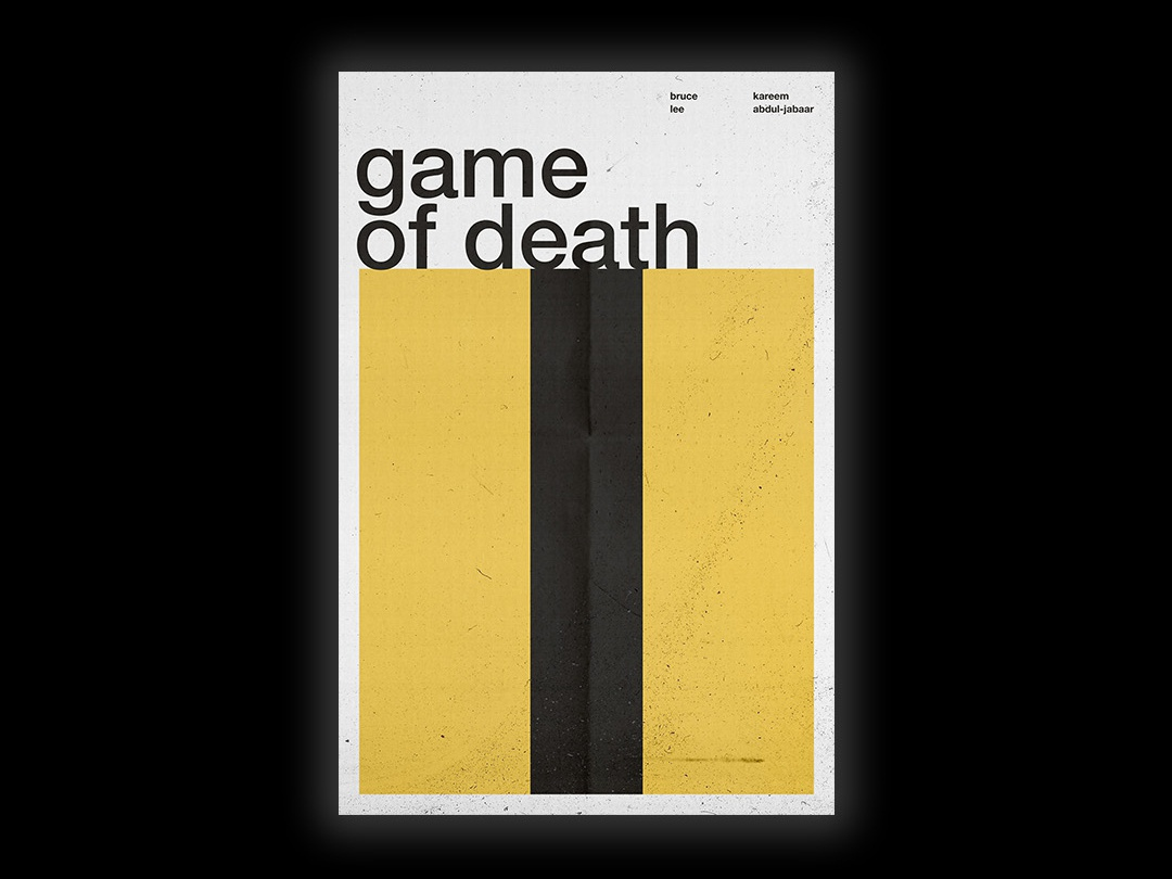 Game Of Death Film Poster By Cale Grossman On Dribbble