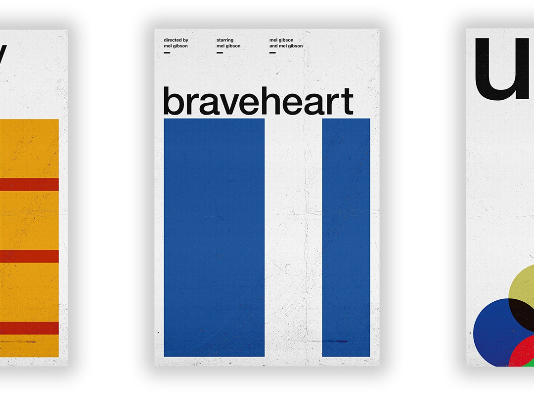 Braveheart - Film Poster vector swiss wallpaper wall art typography swiss style passion project movie poster movie film poster design
