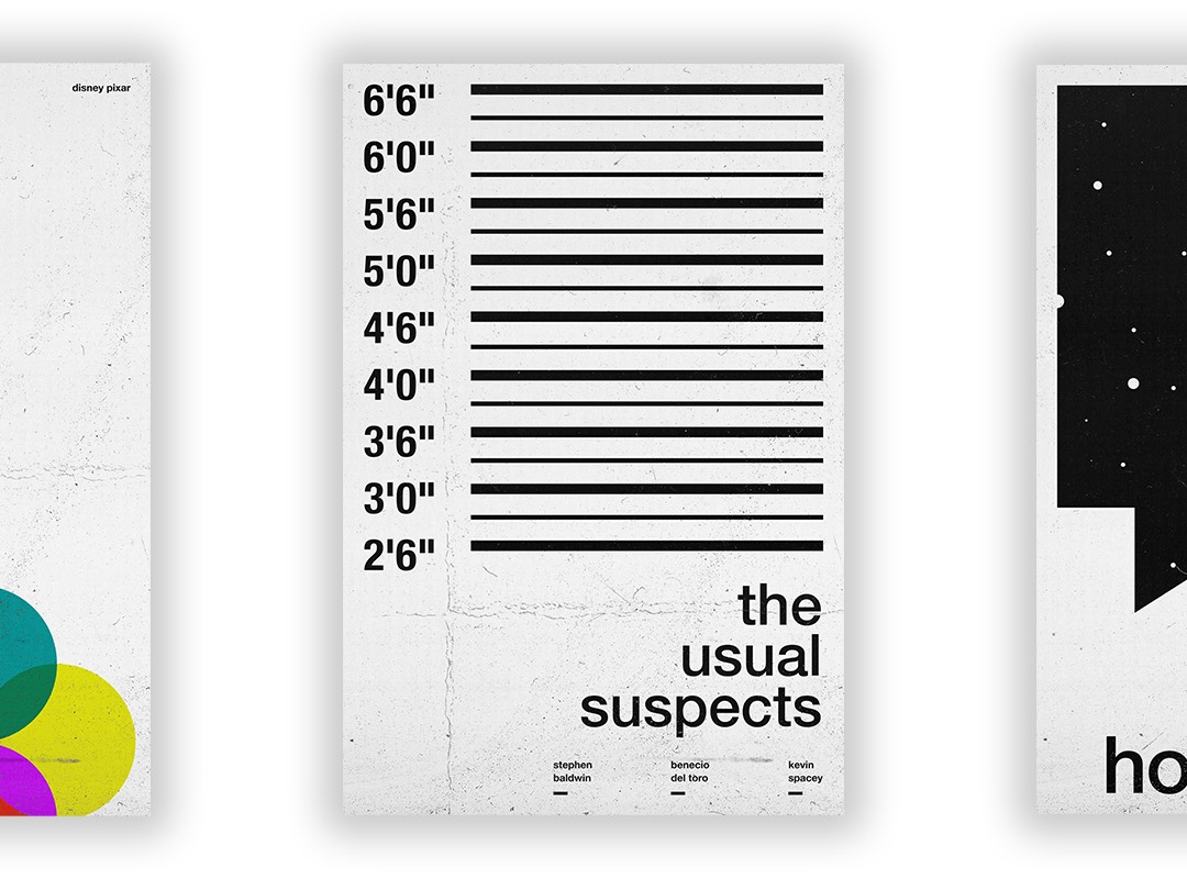 The Usual Suspects - Film Poster vector swiss wallpaper wall art typography swiss style passion project movie poster movie film poster design