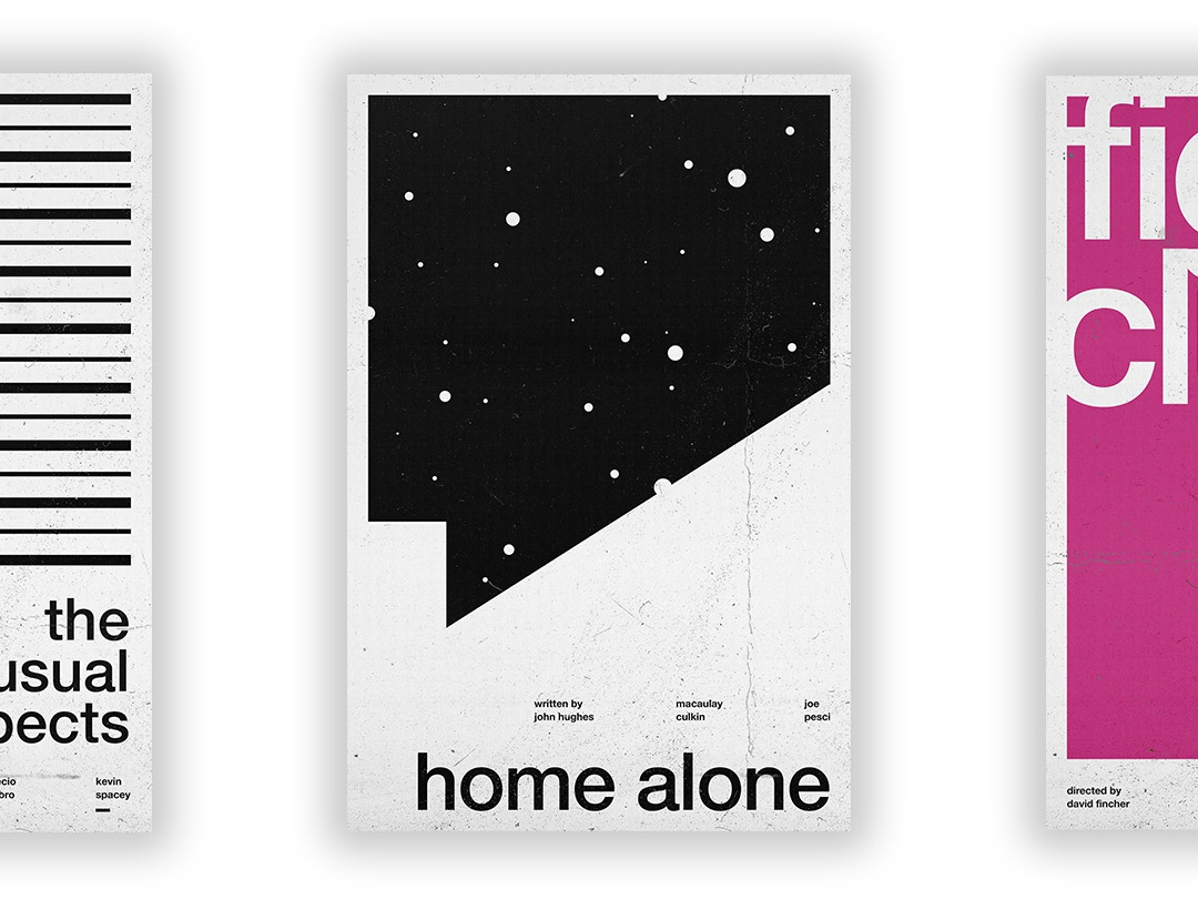Home Alone - Film Poster vector swiss wallpaper wall art typography swiss style passion project movie poster movie film poster design