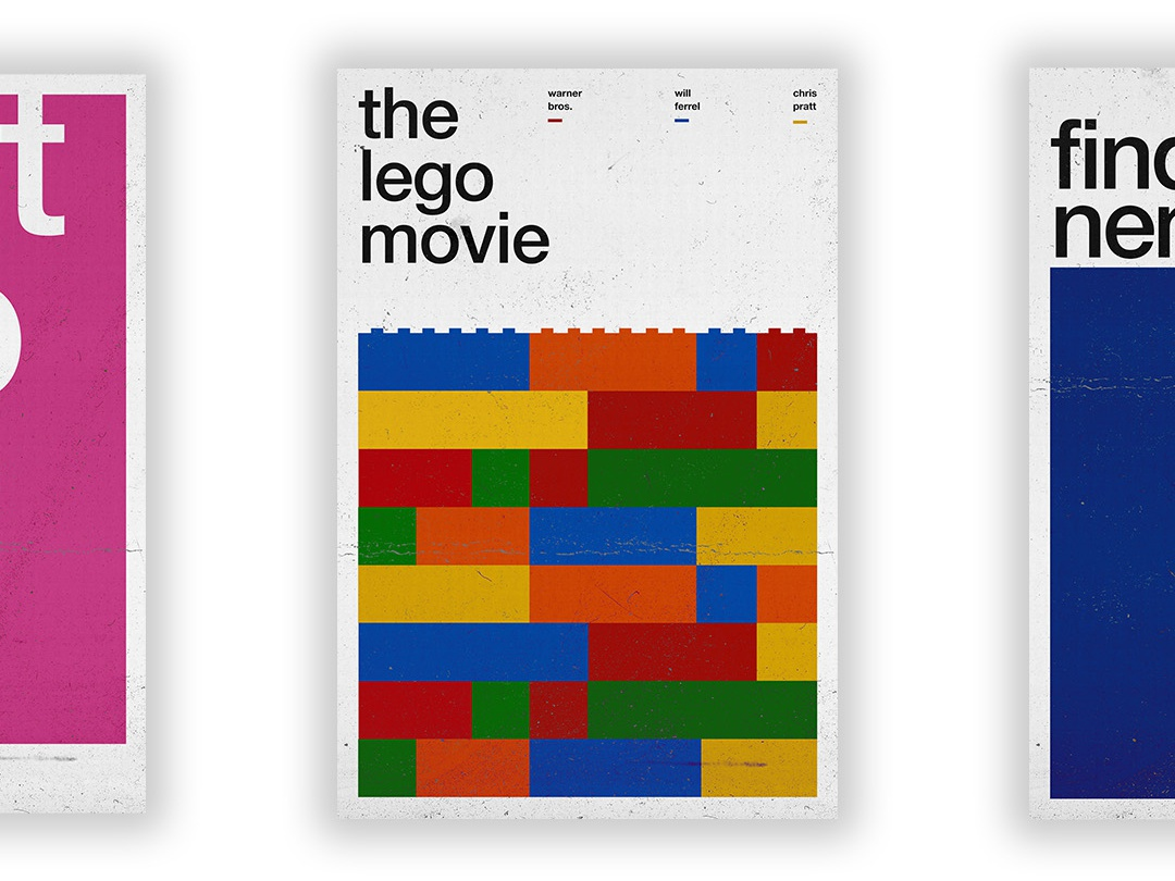 The Lego Movie - Film Poster vector swiss wallpaper wall art typography swiss style passion project movie poster movie film poster design