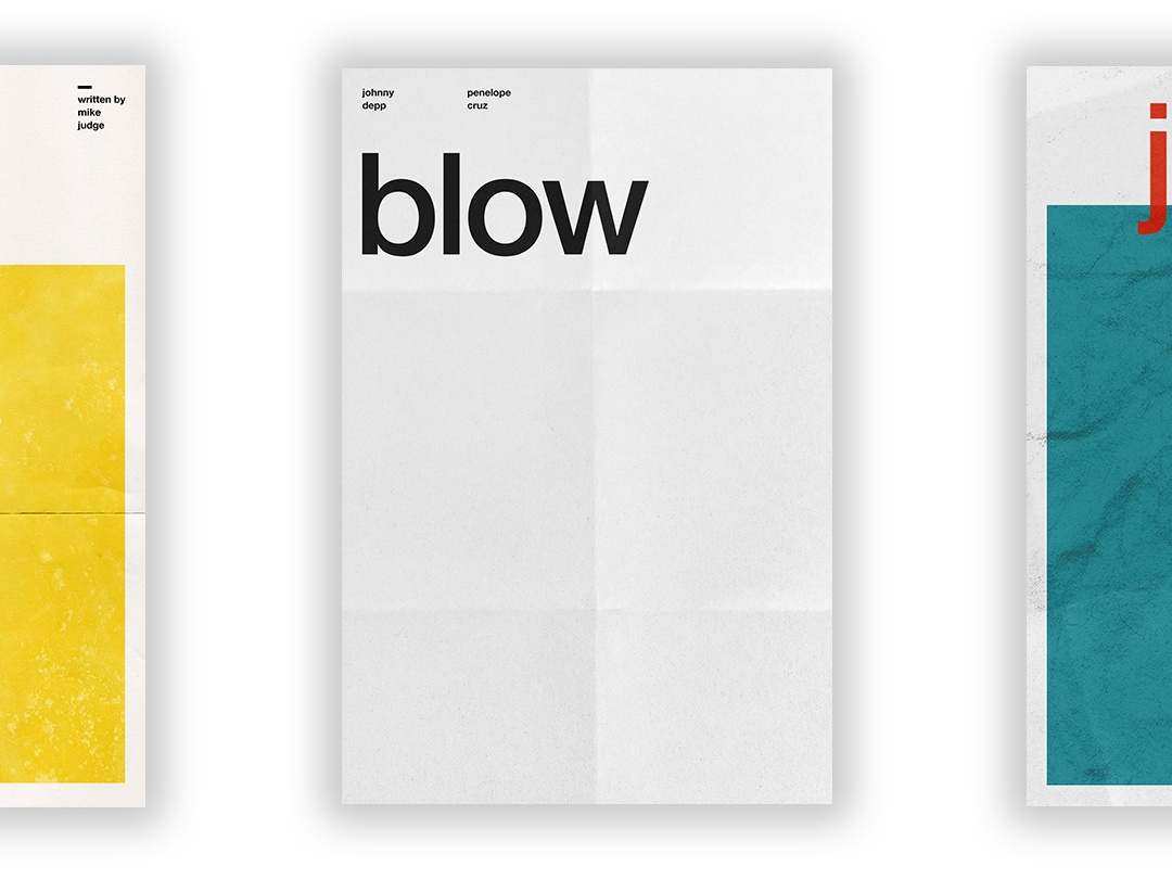 Blow - Film Poster vector swiss wallpaper wall art typography swiss style passion project movie poster movie film poster design