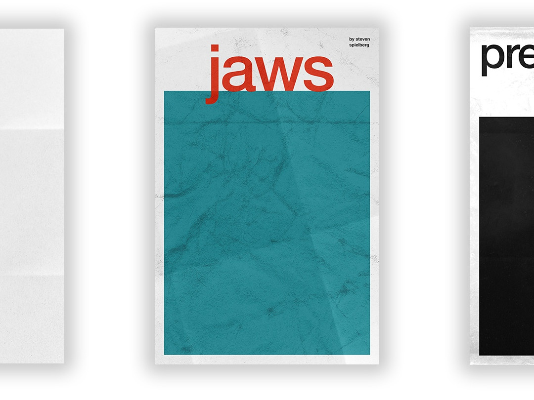 Jaws - Film Poster universal vector swiss wallpaper wall art typography swiss style passion project movie poster movie film poster design