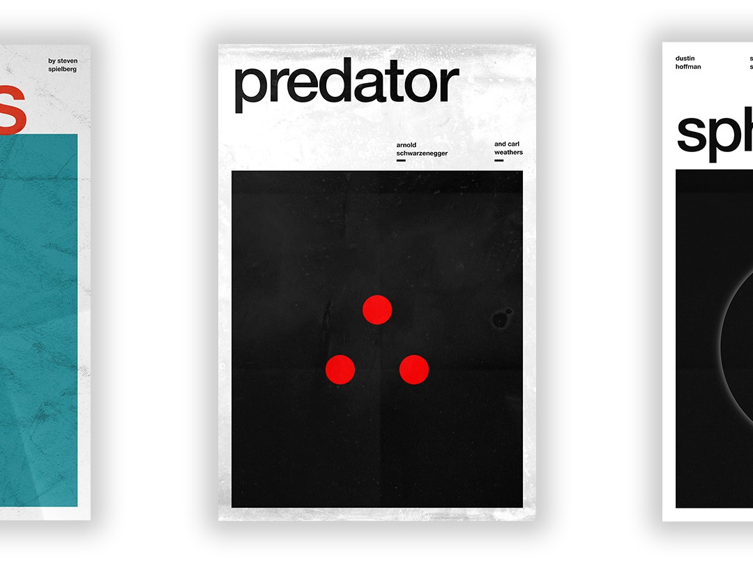 Predator - Film Poster vector swiss wallpaper wall art typography swiss style passion project movie poster movie film poster design