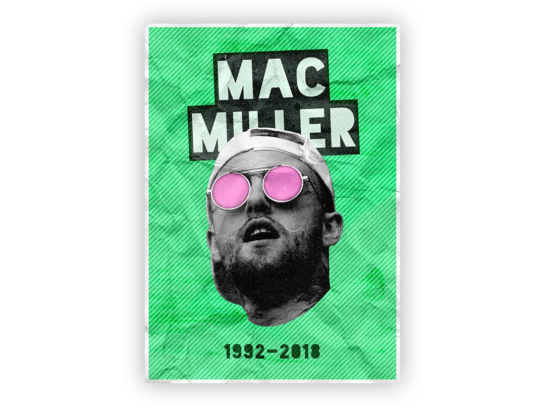 MAC MILLER POSTER 11x15 artist music typography wallpaper wall art passion project design poster rap hip-hop hiphop mac miller