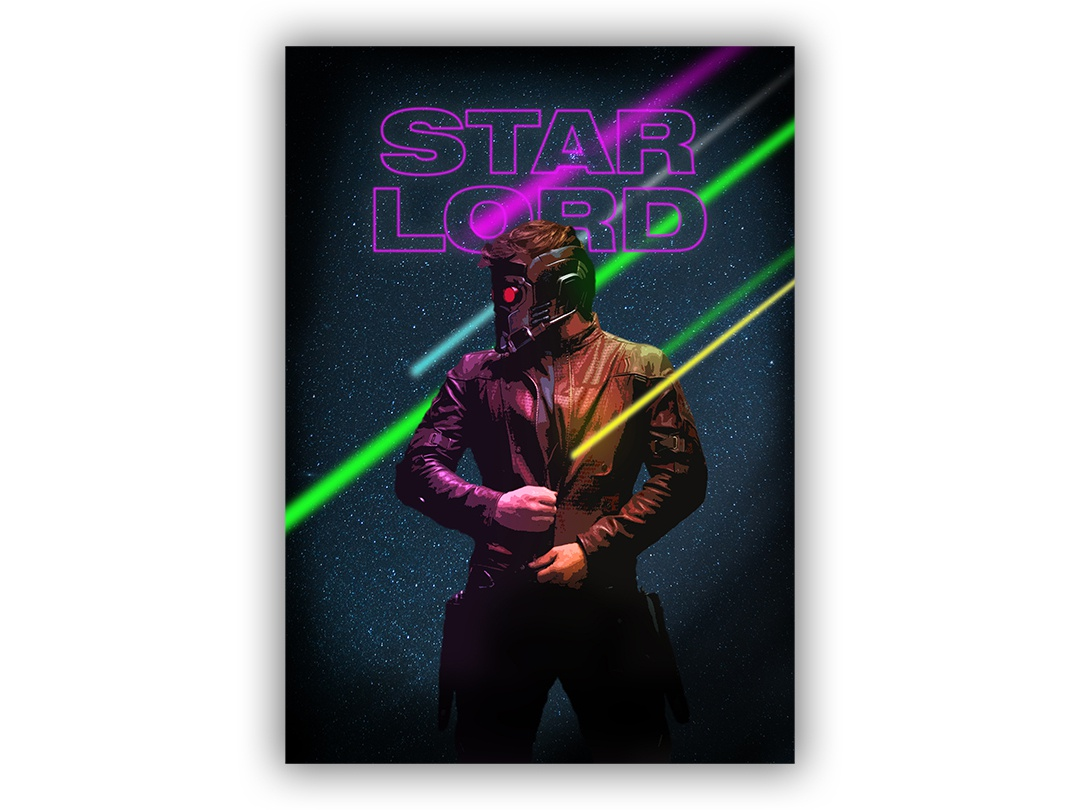 Starlord Poster 11x15.5 movie poster movie film poster wallpaper wall art typography passion project design gotg guardiands of the galaxy marvelcomics marvel comics marvel