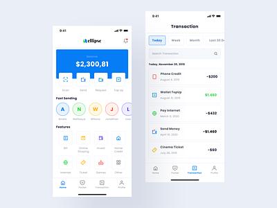 Digital Wallet App save money banking bank money app icon digital wallet wallet money finance product design minimal flat web interface app design ux ui